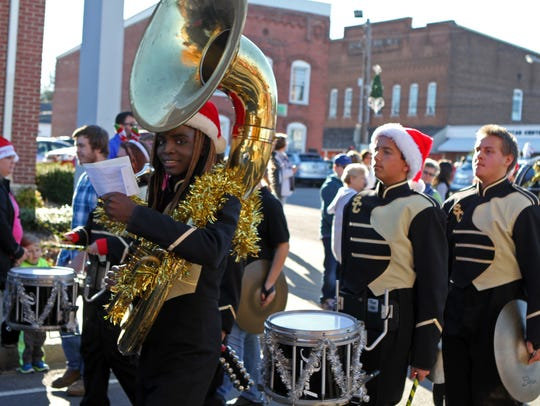 Members of the Stewart County High School Marching