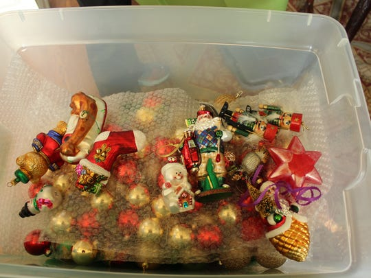 Layer ornaments with bubble wrap instead of keeping all those original packing boxes.
