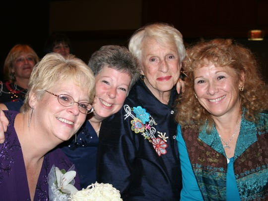 Anne Keefe (third from left) with her daughters, left to right: Mollie, Kitty and Lisa.