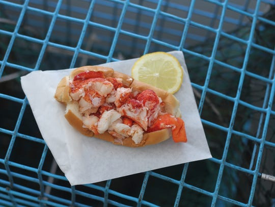 The Cousins Maine lobster roll is served chilled, with