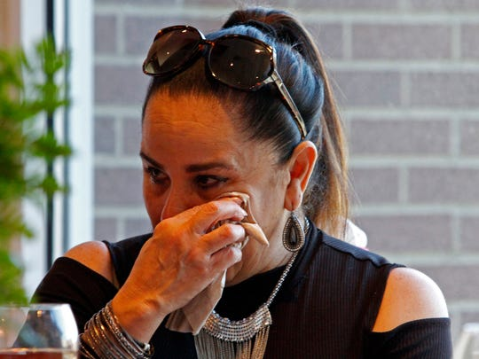 Carmen Caratini was brought to tears as she shared