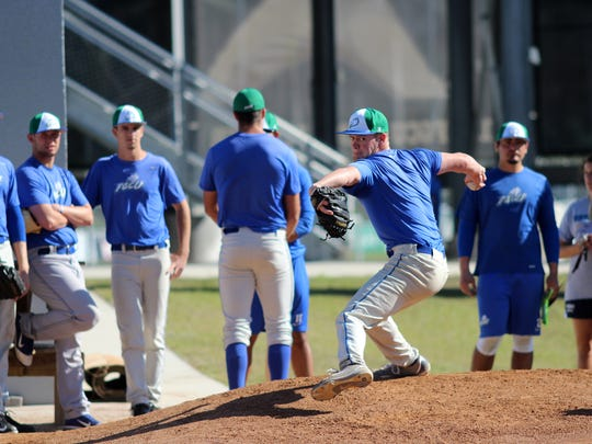 Fifth-year senior Brady Anderson leads a young FGCU pitching staff.