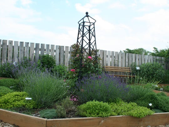 The herb garden, one of eight demonstration gardens on Franklin Farm Lane, Chambersburg.