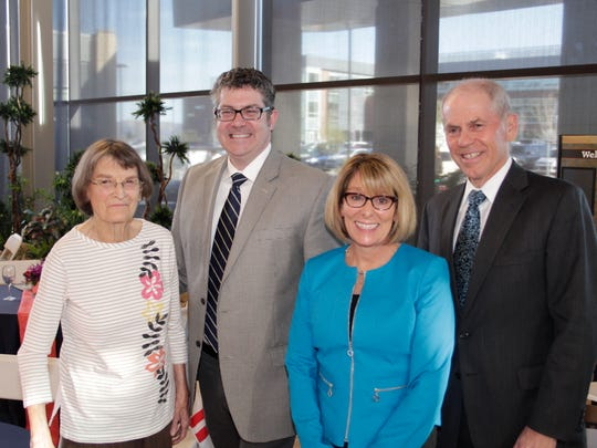 Also attending the clinic's open house were, from left, Vivian Kirckof, Sanford Center for Aging Director Peter Reed, Gigi Webeckes and Dr. Tom Schwenk, dean of the University of Nevada School of Medicine and vice president of Health Sciences at the University of Nevada, Reno.