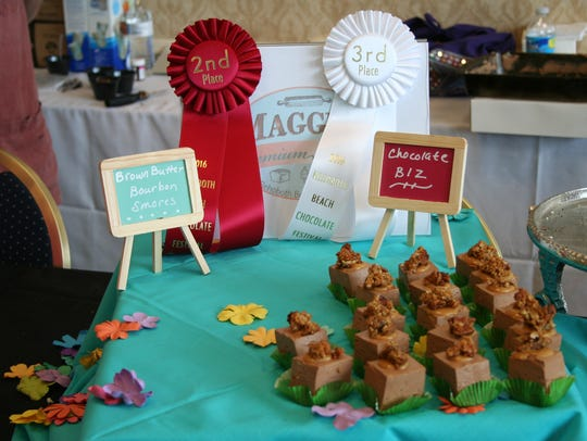Maggie's Bakery of Rehoboth displays their chocolate
