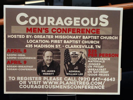 This weekend's Courageous Men's Conference will feature