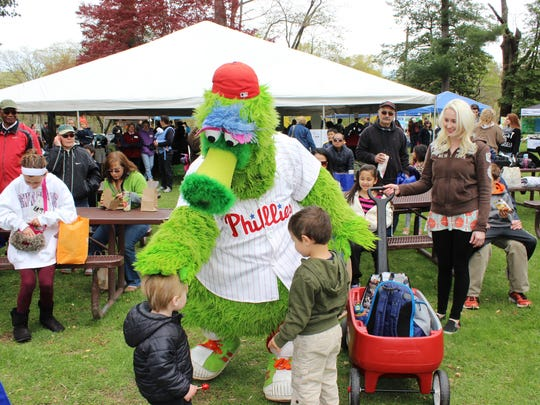 The Phillie Phanatic will be making an appearance at the Sustainable Cherry Hill Earth Fest on Saturday, April 30.
