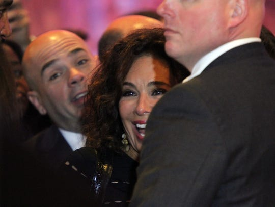 Jeanine Pirro a supporters of Republican presidential