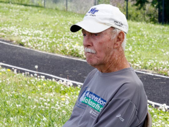 86-year-old Fred Lovelace was the oldest competitor at this year's 50+ Olympics. He says he has slowed down after recent surgery, but still managed to run the 400 meters in about 3 minutes.