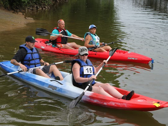 More than 30 competitors gathered for the 3rd annual Rally on the Cumberland Saturday, a five-mile paddle from Clarksville's Conservation Club to Liberty Park.