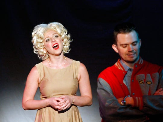 In a scene from Smokey Joe's Cafe, Samantha Stolzfus
