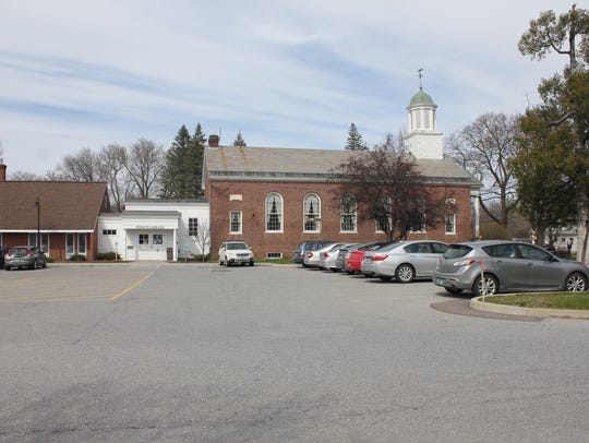 Pierson Library in Shelburne. Entrance is in the white