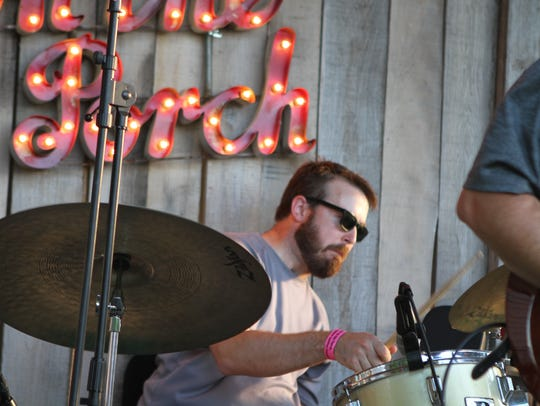 Syd Hedrick and the Phalcons rocked the porch Saturday