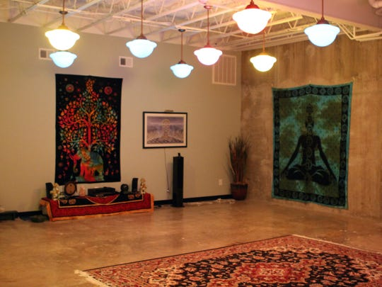 The Yoga Room at the Tree of lIfe Center. Yvonne Chamberlain,