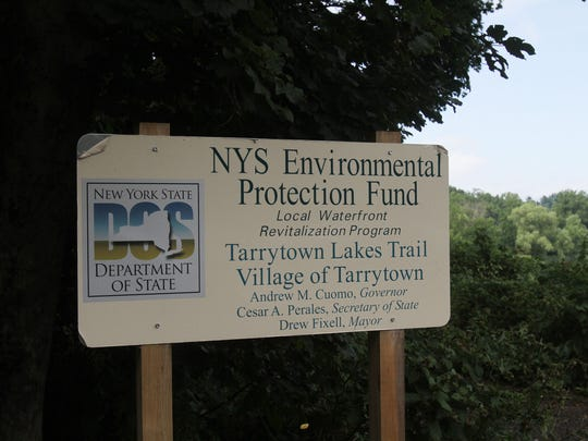 A sign at the entrance to one of the old rail trail