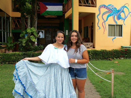 Sofia and her teacher Ruth Mora at Intercultura Spanish