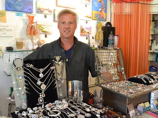 Daniel Thompson of Suncatcher's Dream gift store.