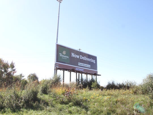 Panera Bread is announcing its new home delivery service on an I-96 East billboard just south of Howell.