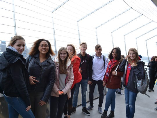The German group takes in the Seattle sights during