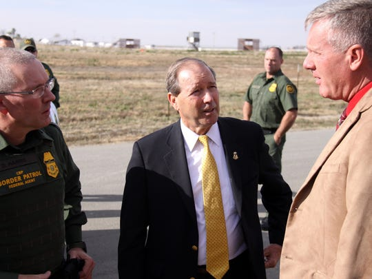 Sen. Tom Udall visited FLETC  and received an update on the new Border Patrol training program.