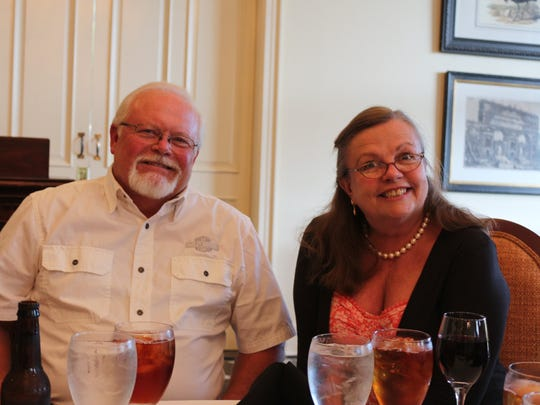 """Jean Hartzog and her husband Jerry at a """"Our House, help for teens"""" dinner."""
