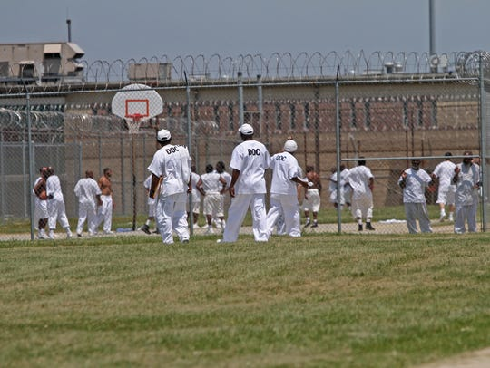 Inmates are shown at the Vaughn Correctional Center