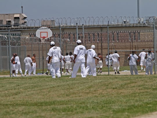 Inmates are shown at the Vaughn Correctional Center in 2013. Today, Vaughn houses about 2,500 adult male inmates, including those on death row. There are about 600 correctional officers.