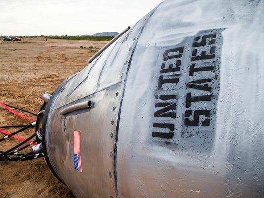 I-10 spacecraft in the desert