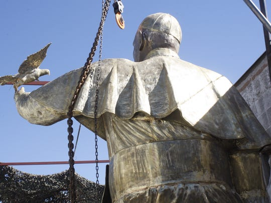 The statue of Pope Francis will be unveiled in Juarez Friday in commemoration of the first year anniversary of his visit to the borderland.