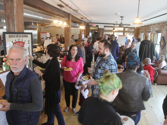 There was plenty of food on hand for the grand opening of the new Poughkeepsie Underwear Factory on North Cherry Street in downtown Poughkeepsie March 30, 2017.