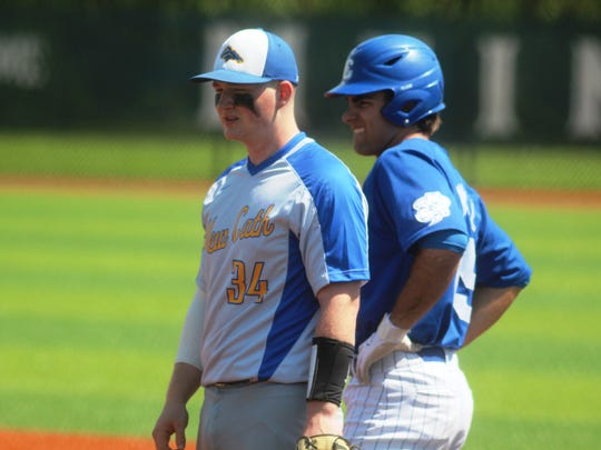 NCC junior Gunner Smith and CovCath junior Jack Maile