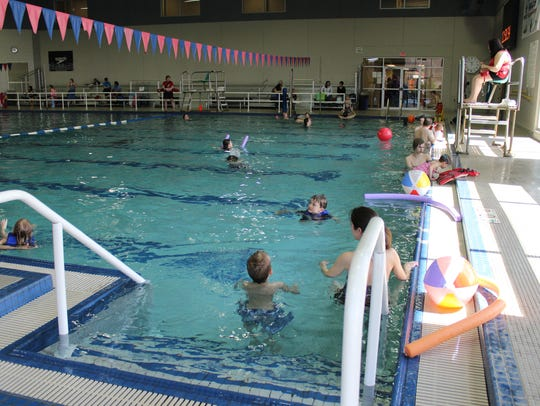 Children play in the pool in 2015 during Healthy Kids
