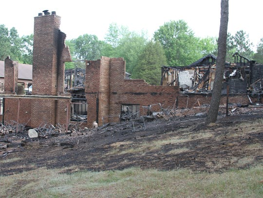 A blaze destroyed the John Clufetos' family home in