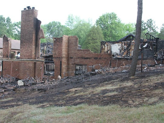 A blaze destroyed the John Clufetos' family home in the 8000 block of Beardsley Road in Putnam Township shortly after 5 p.m. Monday. The cause and origin remains under investigation Tuesday.