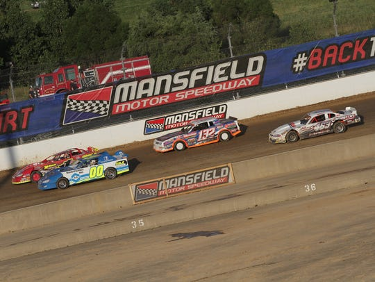 Drivers took to the dirt track for the Freedom 50 race at Mansfield Motor Speedway.