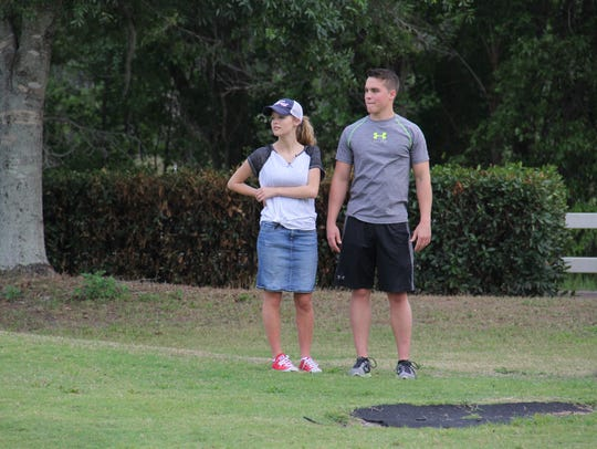 "Josie Bates and Kelton Balka stand together in a ""Bringing"