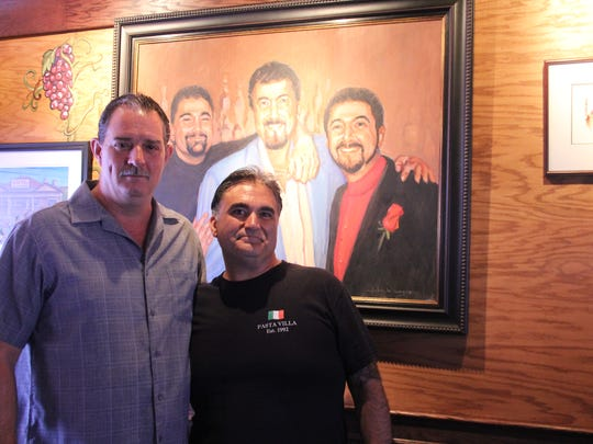 """Frank """"Frankie"""" Guido, left, owner of Guido's Pasta"""