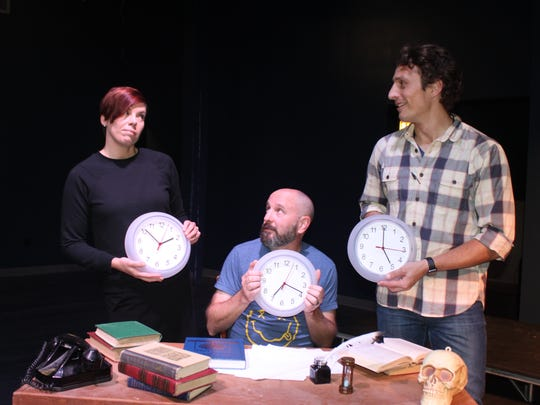 "DreamWrights presents ""All in the Timing,"" Nov. 10-11."