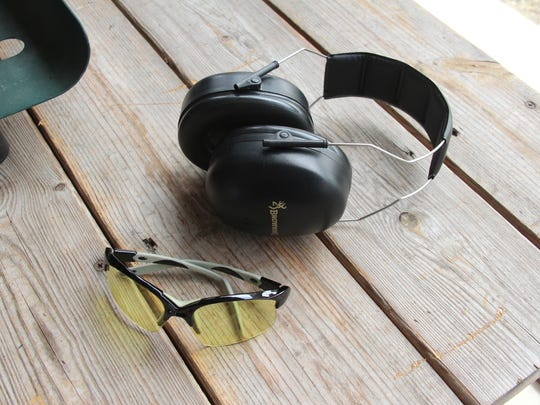 Eye and ear protection are required at sight-in clinics.