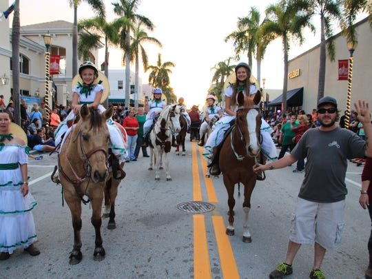 Horses and riders are always part of the Sights & Sounds parade.