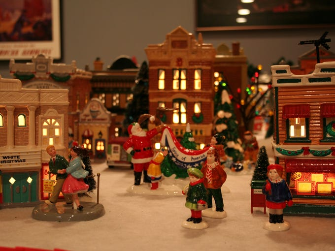 photos miniature christmas village goes major in monroe for the last 15 years john ditirro has been creating