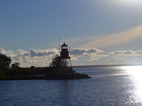 Silhouette of The Alpena Light, also known as the Thunder