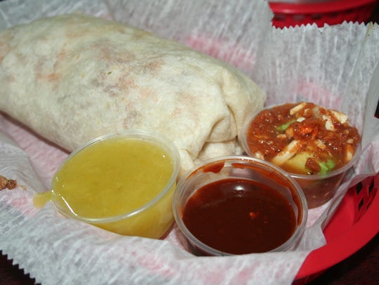 The Torti Burrito Challenge at Torti Taco. With over-the-top