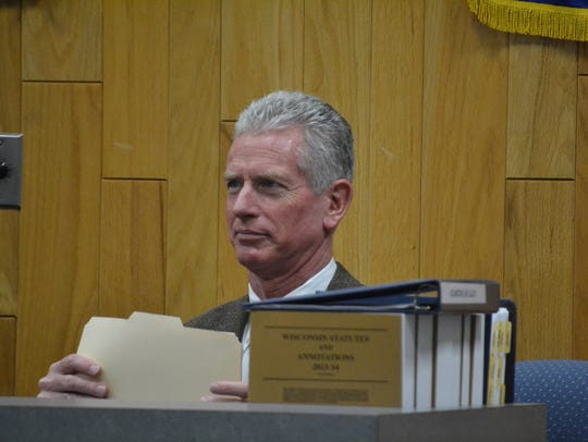 Oconto City Attorney Frank Calvert, seen at a council