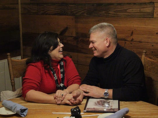 """Kelly Jo and Gil Bates celebrate their 30th anniversary at the Old Mill Restaurant in Pigeon Forge during an episode of """"Bringing Up Bates."""""""
