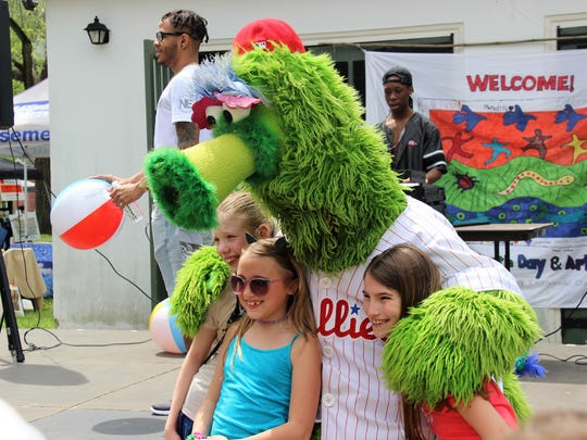 It's easy being green when you are the Phillies Phanatic.