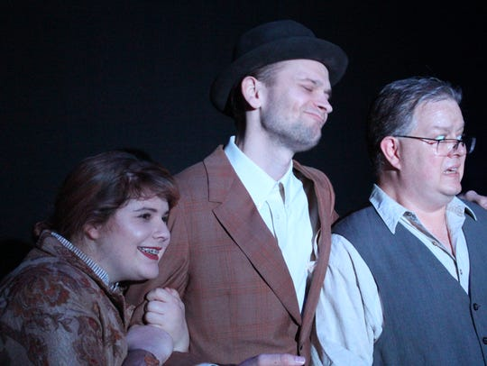 """Becca Wilson, Albert Brown and Steven Hendershott in a scene from """"Hello! My Baby"""" opening at the Renner Theatre."""