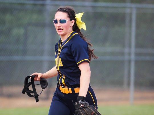 Notre Dame senior Lindsey Meier at shortstop during