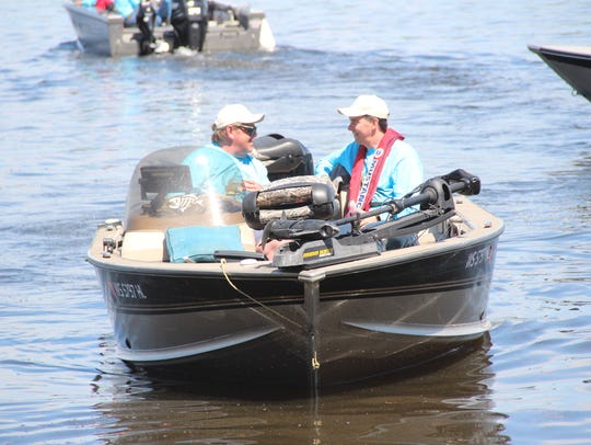 Gov. Scott Walker (right) and Steve Sedani, his fishing