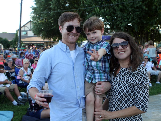 Charles, Reynolds and Danica Booth at Beachaven Winery's